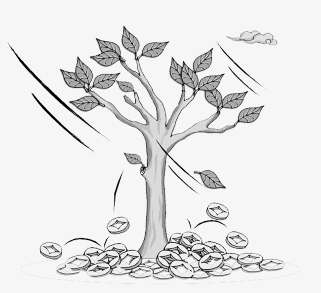 Windy clipart wind blown tree. Creative blowing money gold