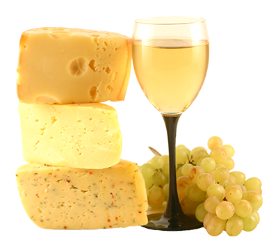Wine and cheese png