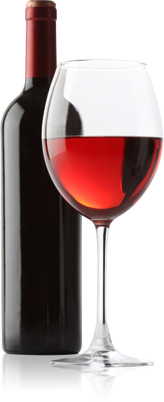 Wine bottle and glass png. Transparent of alongside a