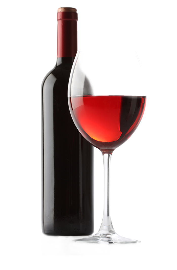 Wine bottle and glass png. Red white transprent download
