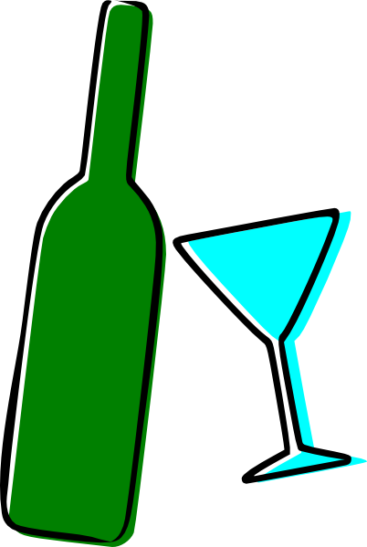 Bottle and martini glass. Wine clip animation clip transparent library