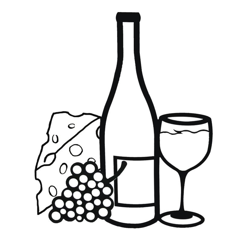 Wine clipart wine jug. Bottle line drawing at