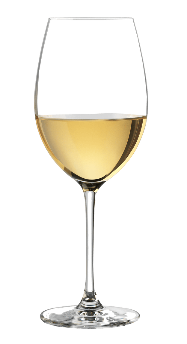 White wine glass transparent background