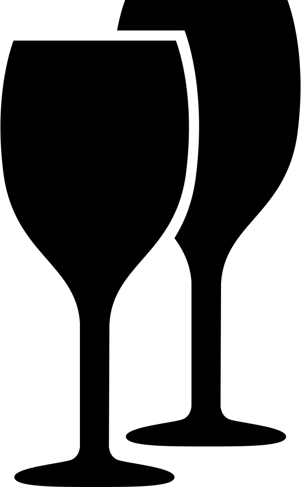 Wine glass icon png. Glasses black couple svg