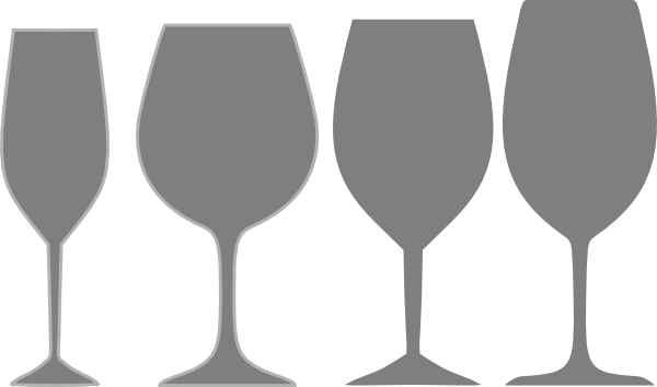 Wine glass silhouette png. Gray assortment clip art