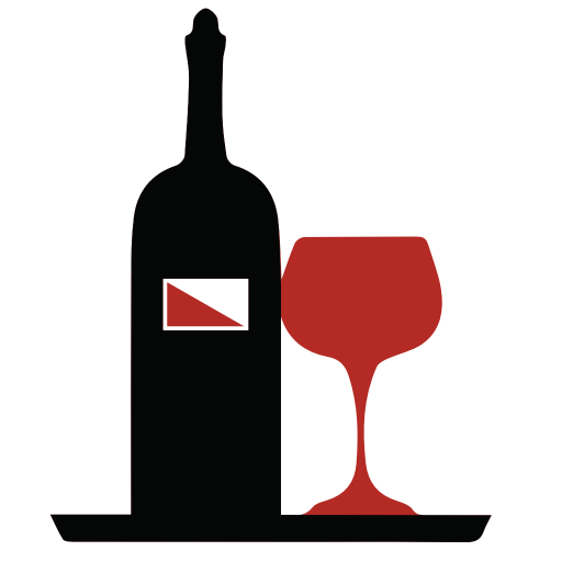 Wine icon png. Glass and bottle of