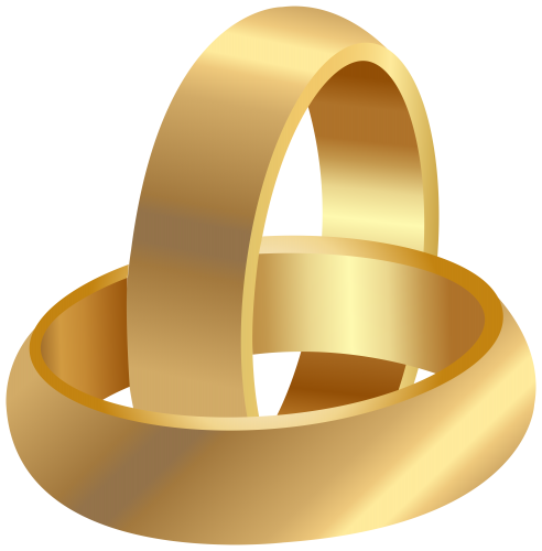 Wine ring png. Golden wedding rings clip