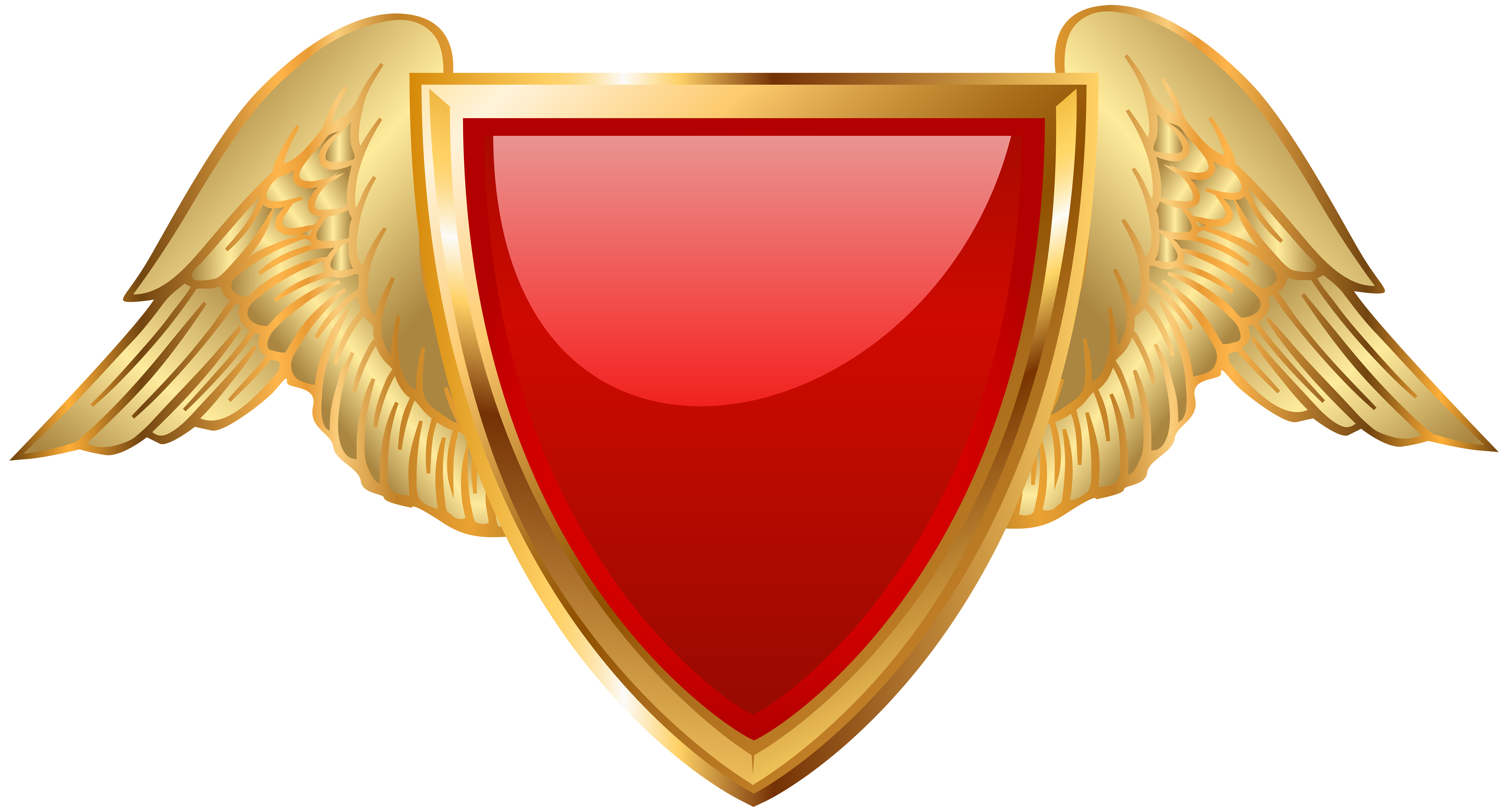 Wing badge png. With wings red clip