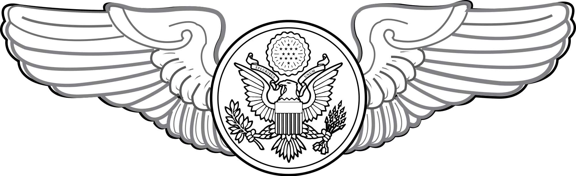 Wing badge png. File united states air