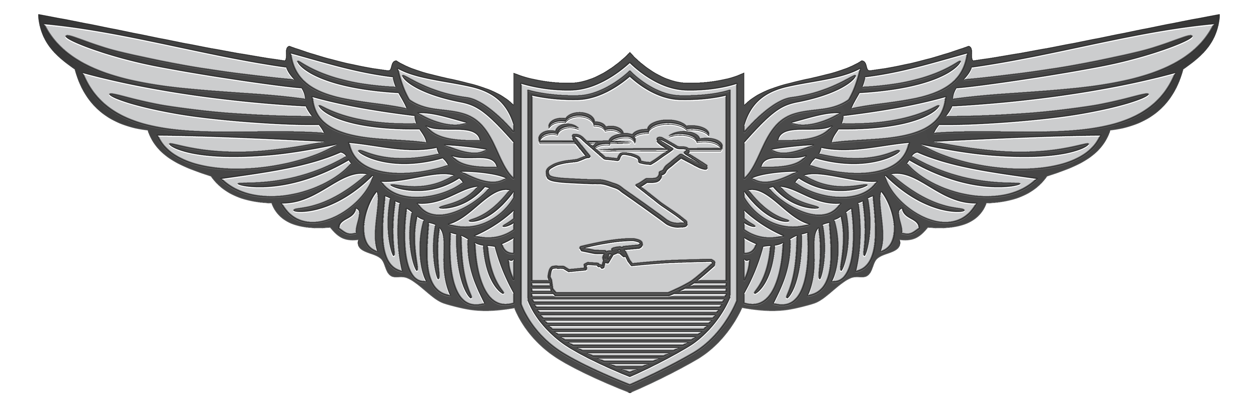 Silver crest png. Hss wings final for
