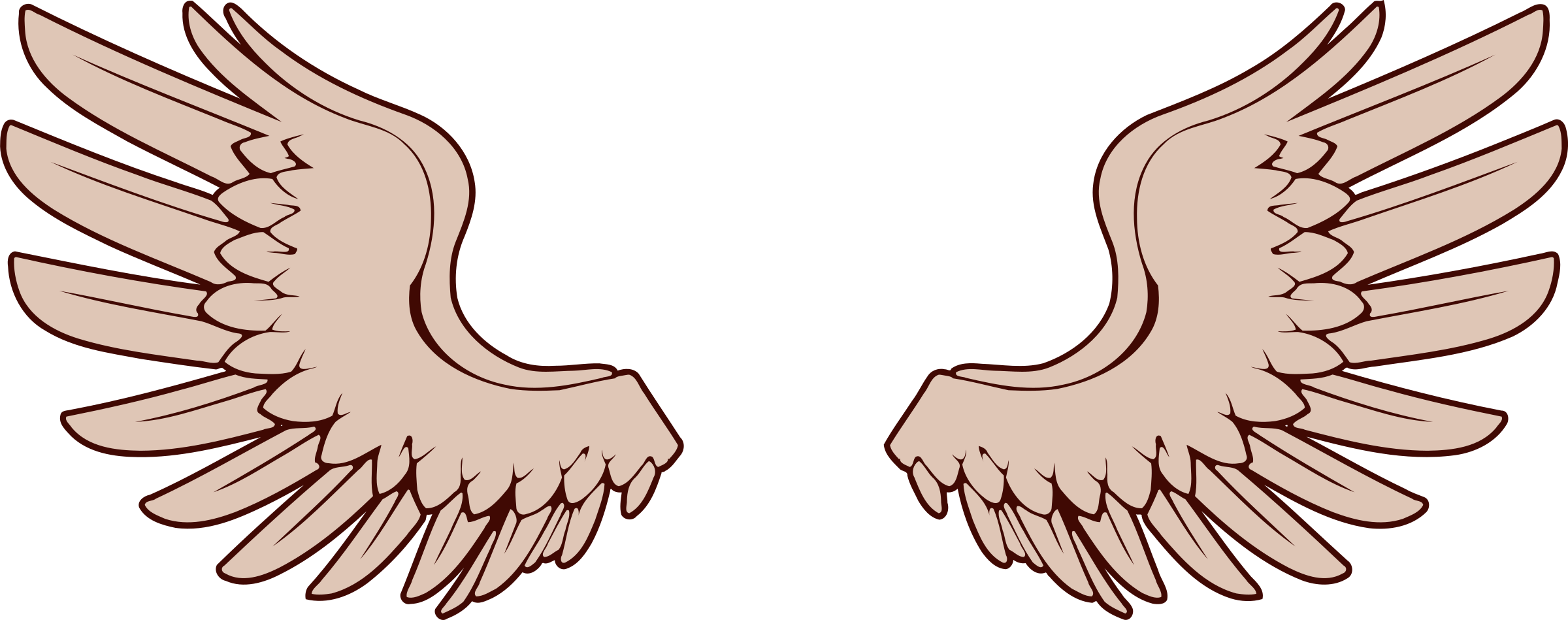 Wing clipart. Pair of spread