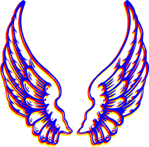 Wing clipart colored wing. Wings clip art at