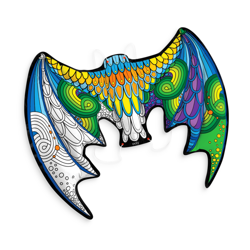 Wing clipart colored wing. D colorables dress