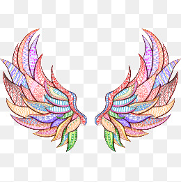Wing clipart colored wing. Color wings png vectors