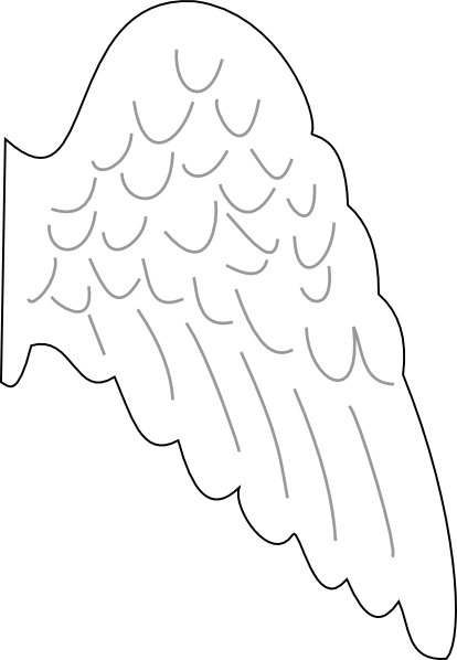 Wing clipart cupid wings. Angel template clip art