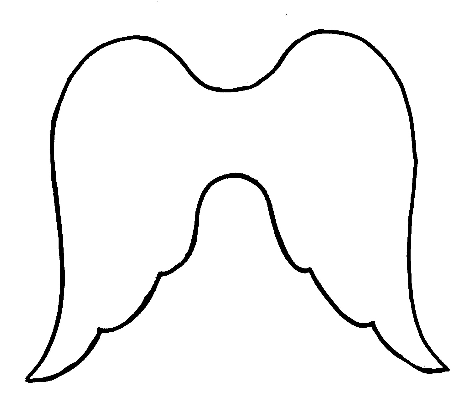 Wing clipart cupid wings. Angel outline search results