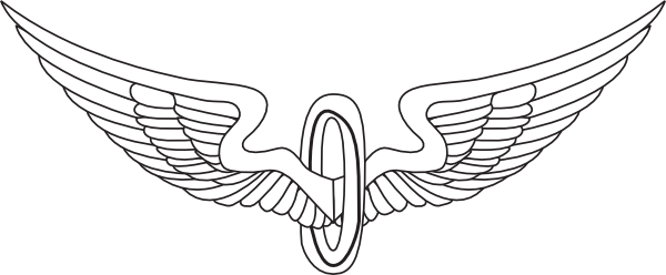 Wing clipart eagle. Wings outline clip art