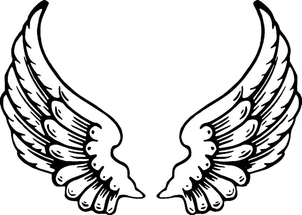Wing clipart printable. Gallery picture of angel