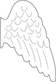 Wing clipart printable. Angel wings pattern use