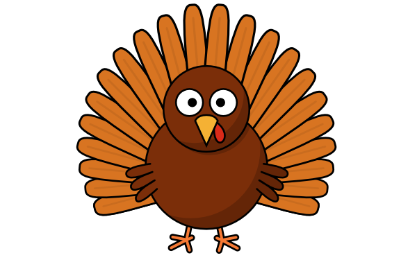 Wing clipart turkey wing. How to draw a