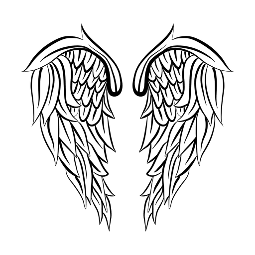 Wing drawing png. Detailed silhouette transparent