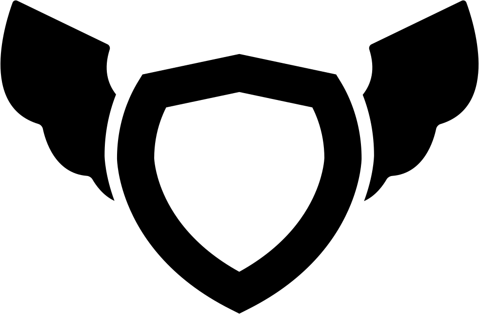 Wing svg beginner. Shield with wings png