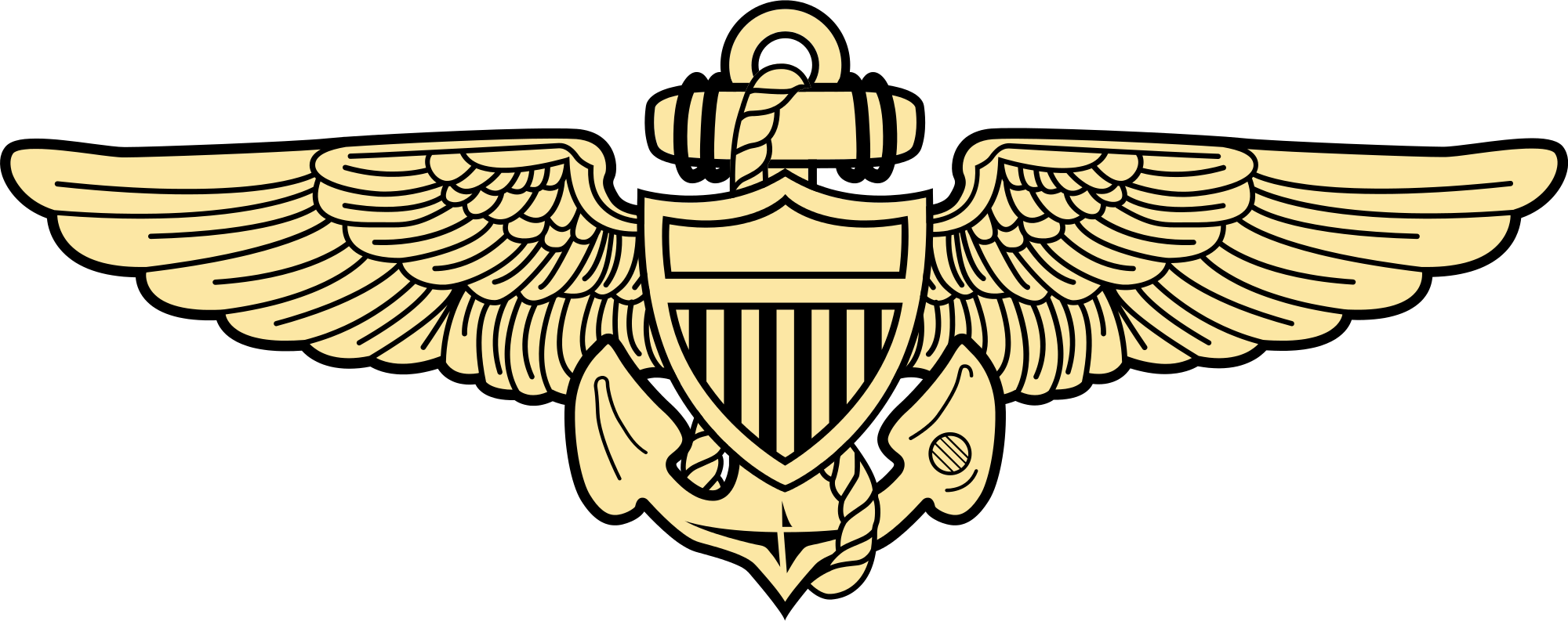 File naval aviation insignia. Aviator clipart svg png stock