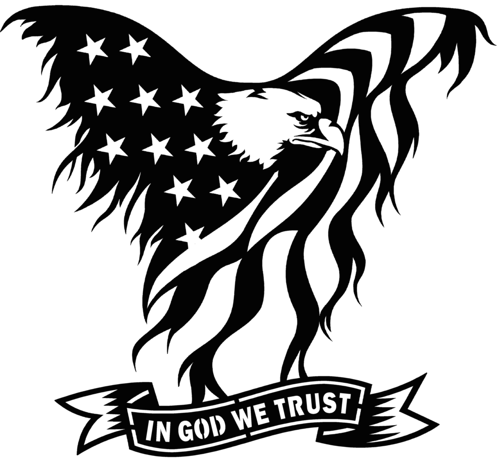 Wing svg dxf. Usa flag eagle in