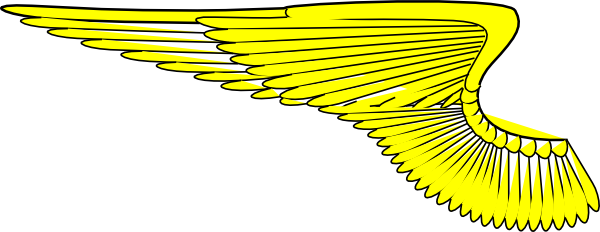 Wing svg clip art. Yellow wings at clker