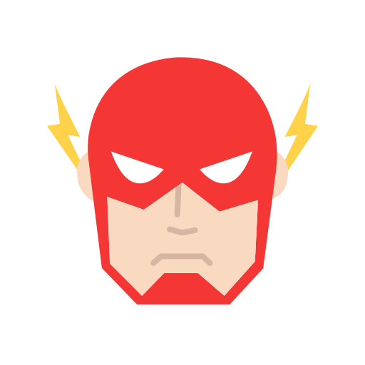Flash clip superhero. Famous characters add on