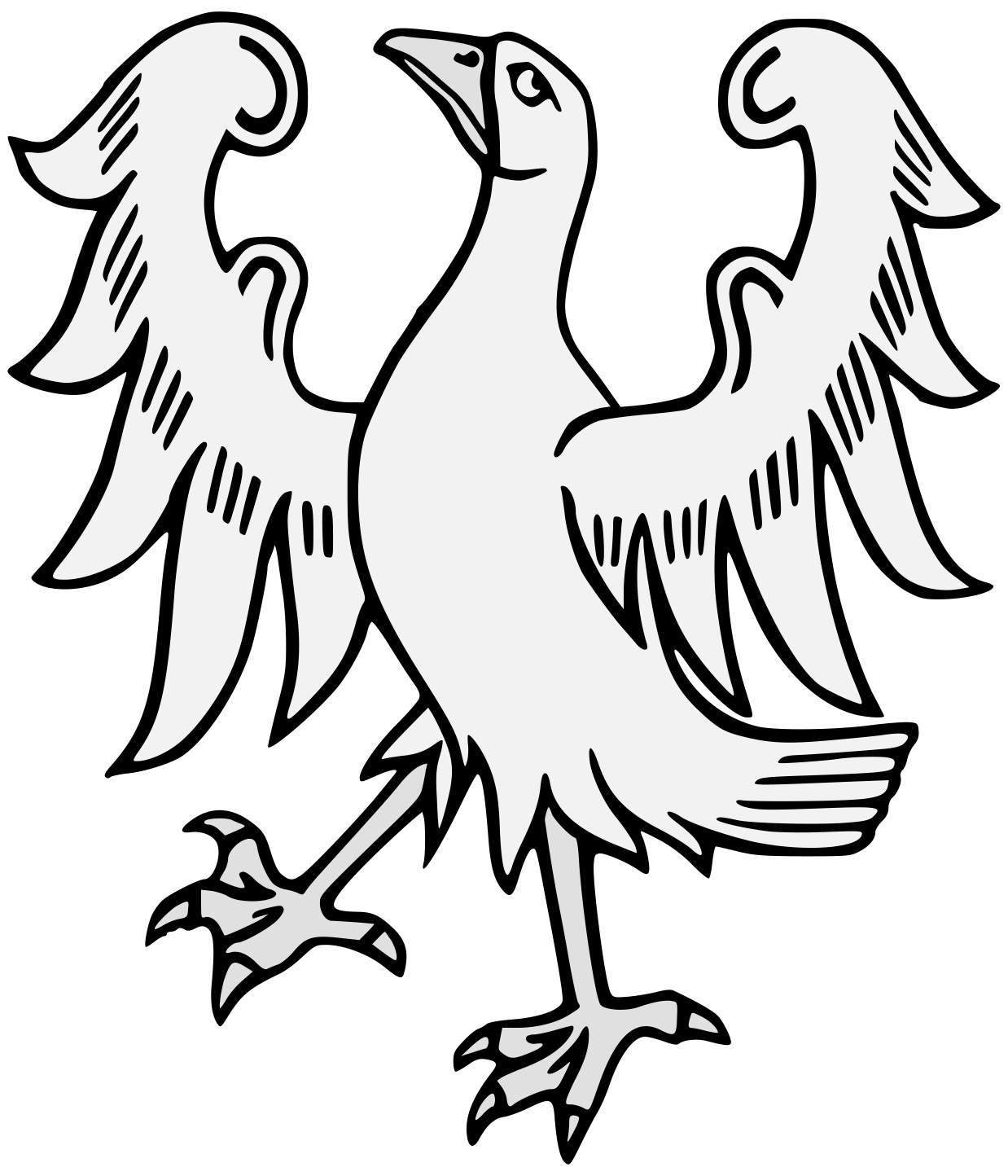 Wing svg traceable. Goose enraged heraldic art