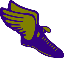 Wing svg track and field. Free shoe with wings