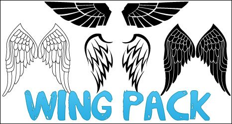 Wingpack. Wing pack tatts photoshop