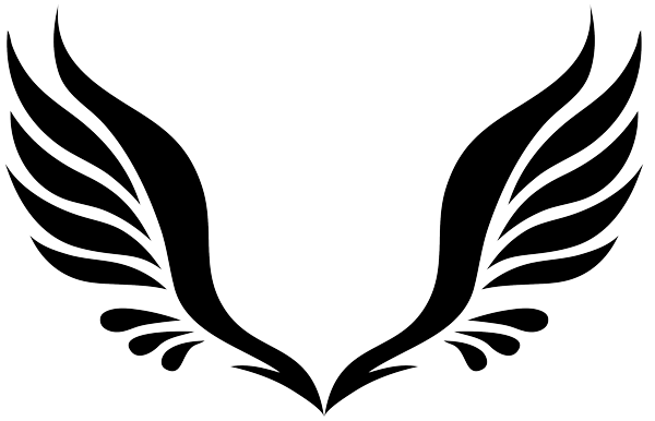 Wing clipart. Simple tribal angel wings