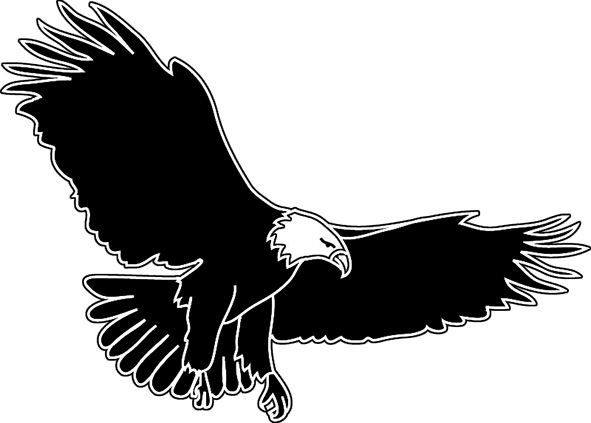 Wings clipart eagle. Free images clipartix
