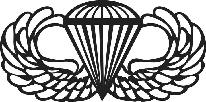 Wings clipart military. Army airborne ideas pinterest