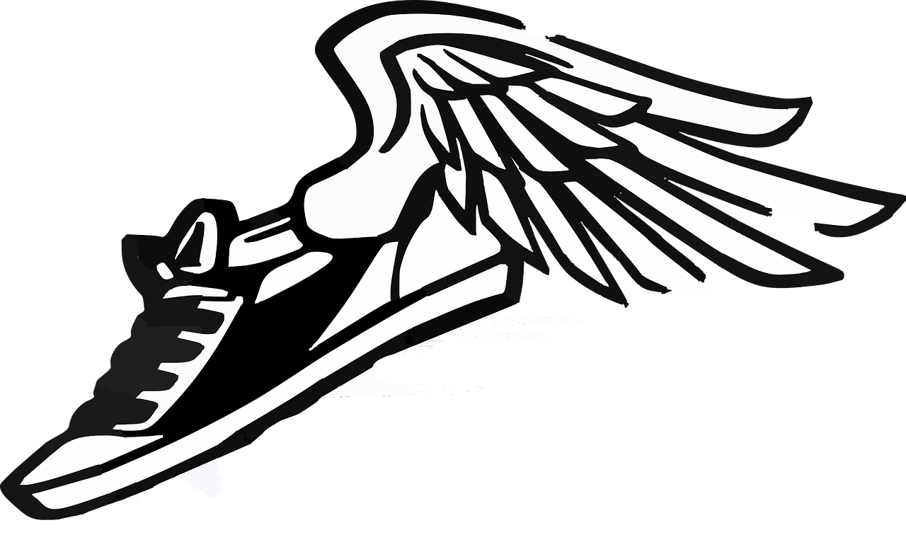 Wings clipart track and field. Free image on pixabay