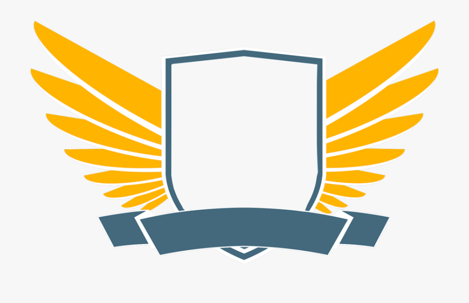 Wings Patch blank. Security shield clipart wing