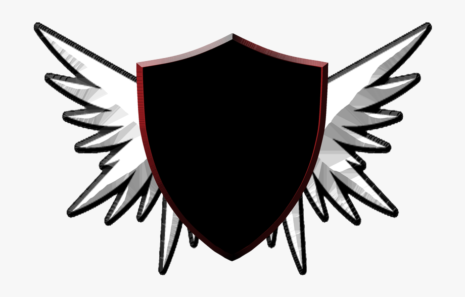 Wings Patch blank. Shield png maroon and