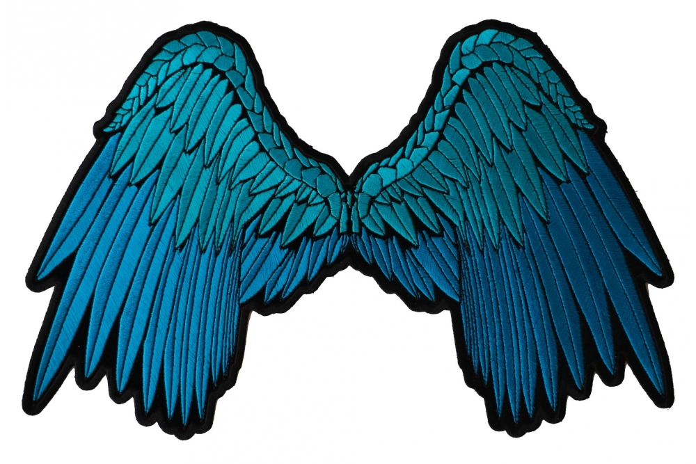 Wings Patch blank. Angel beautifully embroidered in