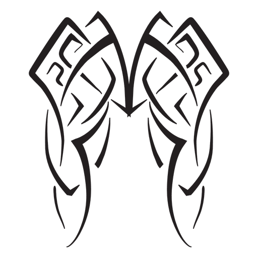 Wings tribal png. Pinstripes transparent svg vector