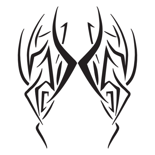 Wings tribal png. Pinstripes stroke transparent svg