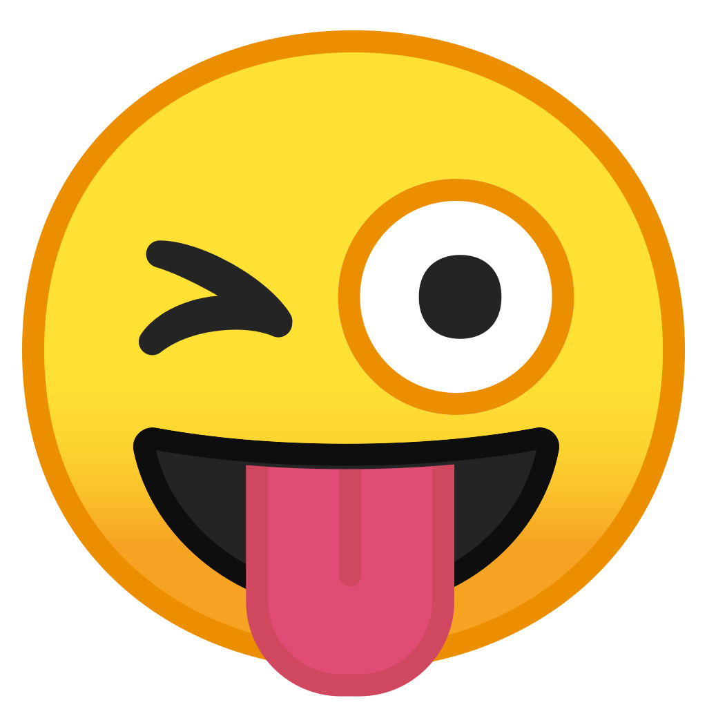 Winking emoji png. Face with tongue icon