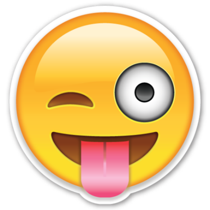 Winky face png. The emoticon