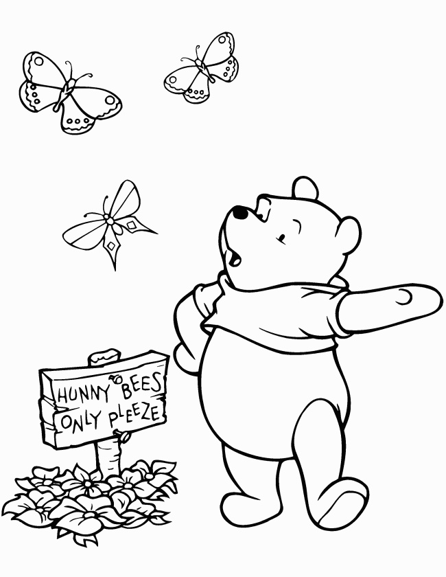 Winnie The Pooh Coloring Page Tv Series Coloring Page | PicGifs.com | 840x650