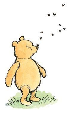 Winnie the pooh clipart hunny bee. Best images on pinterest