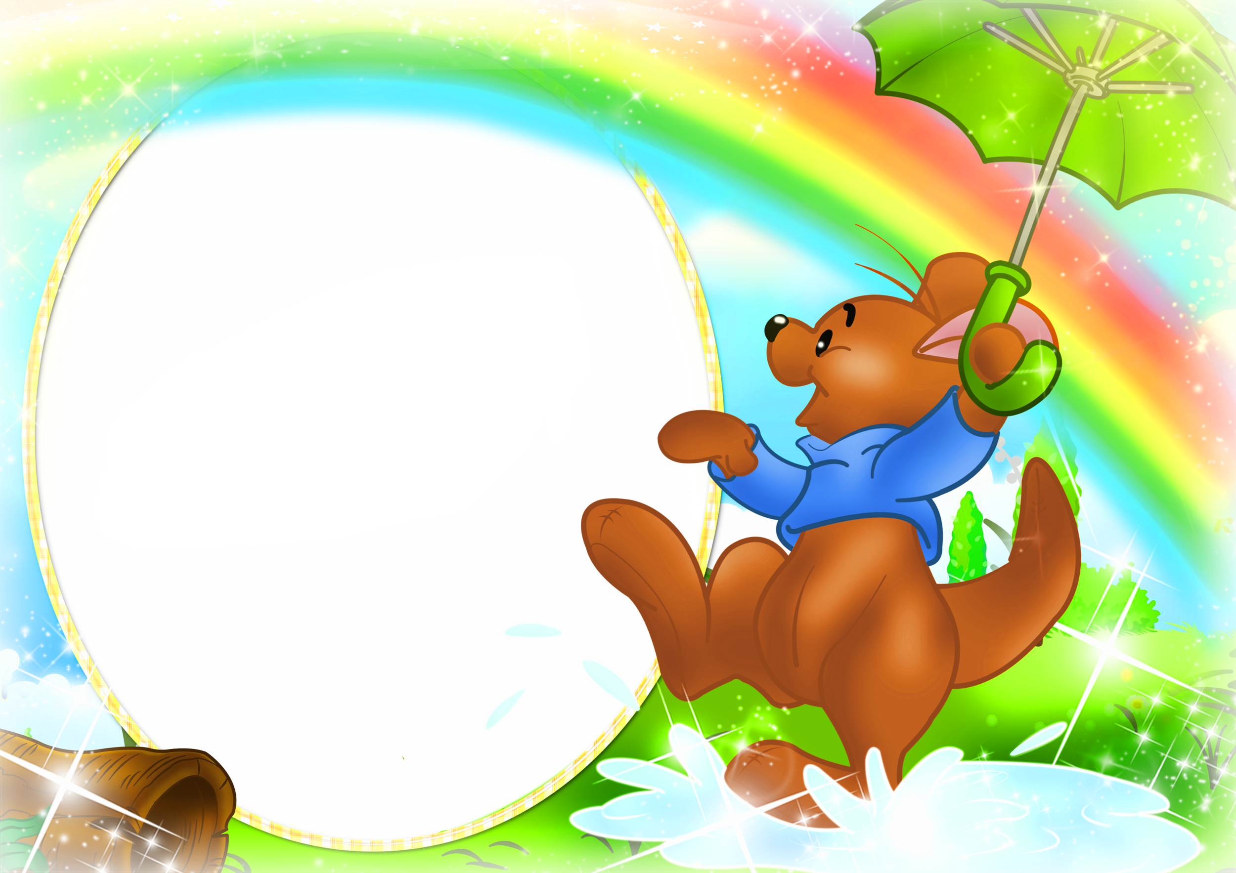 Png backgrounds for kids. Transparent frame with kanga