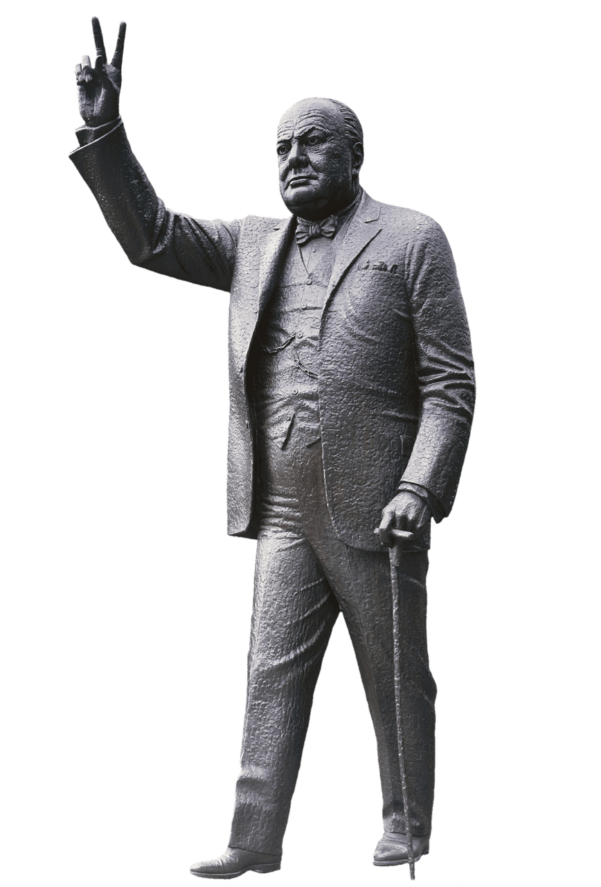 Winston transparent background. Churchill statue png stickpng