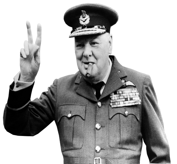 Winston churchill png. Transparent background