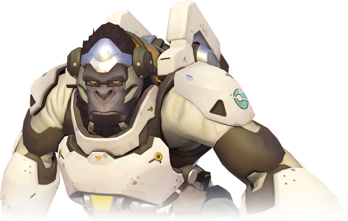 Image portrait overwatch wiki. Winston png clipart transparent download